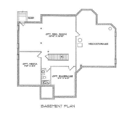 Barry Andrews Homes Long Key basement floor plan