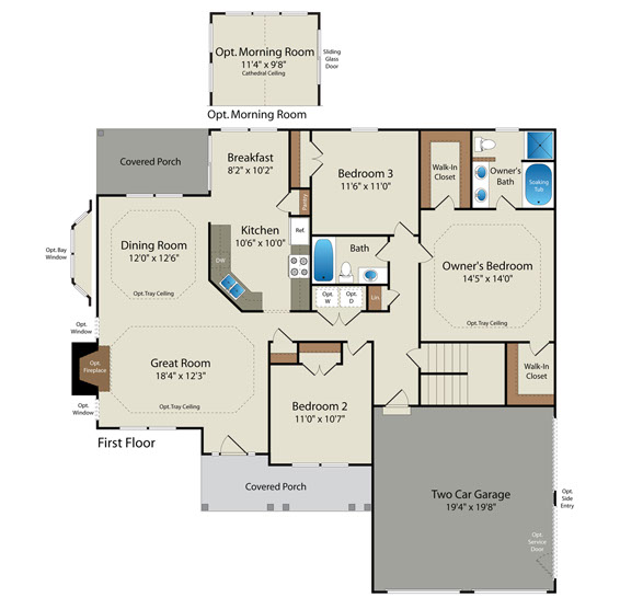 Floor plans barry andrews homes for Fleming homes floor plans